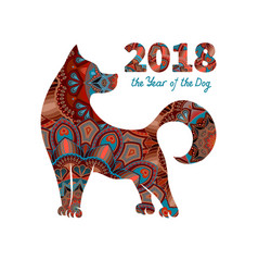 2018-year-of-the-dog-vector-16833367